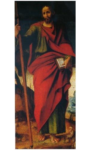 Chiesa di Camaro sup Polidoro Caldara da Caravaggio e Stefano Giordano San Giacomo Apostolo XVI.JPG