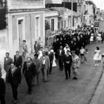 Camaro la via Comunale nel 1960